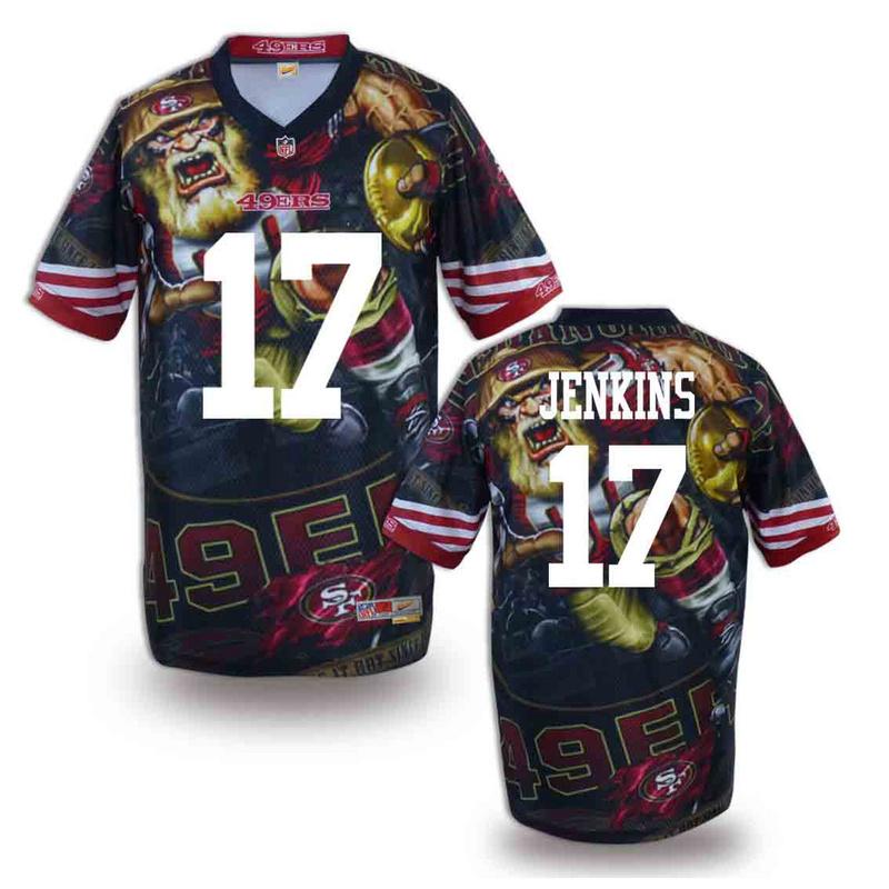 San Francisco 49ers 17 Jenkins NFL fashion version Jersey 12