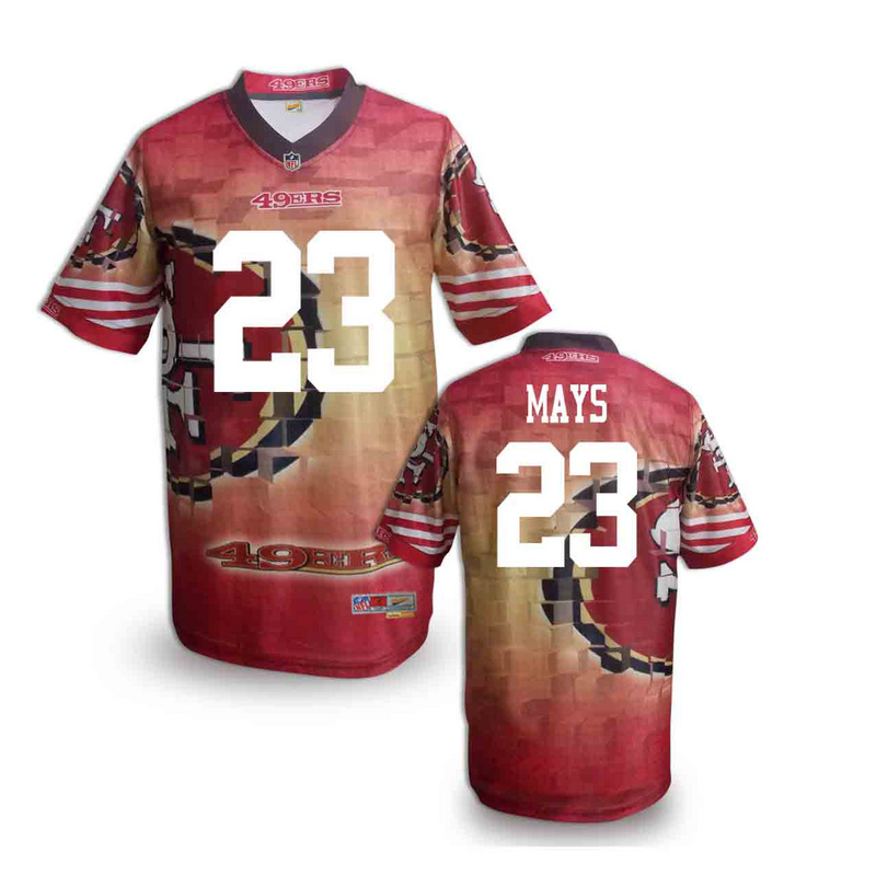San Francisco 49ers 23 mays NFL fashion version Jersey