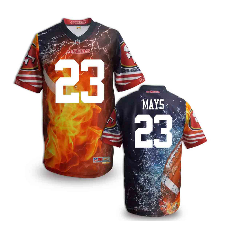 San Francisco 49ers 23 mays NFL fashion version Jersey 1