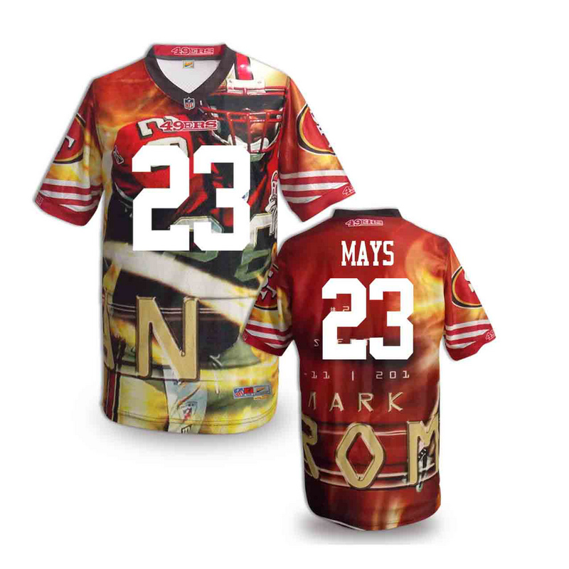 San Francisco 49ers 23 mays NFL fashion version Jersey 3
