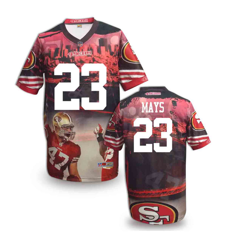 San Francisco 49ers 23 mays NFL fashion version Jersey 4