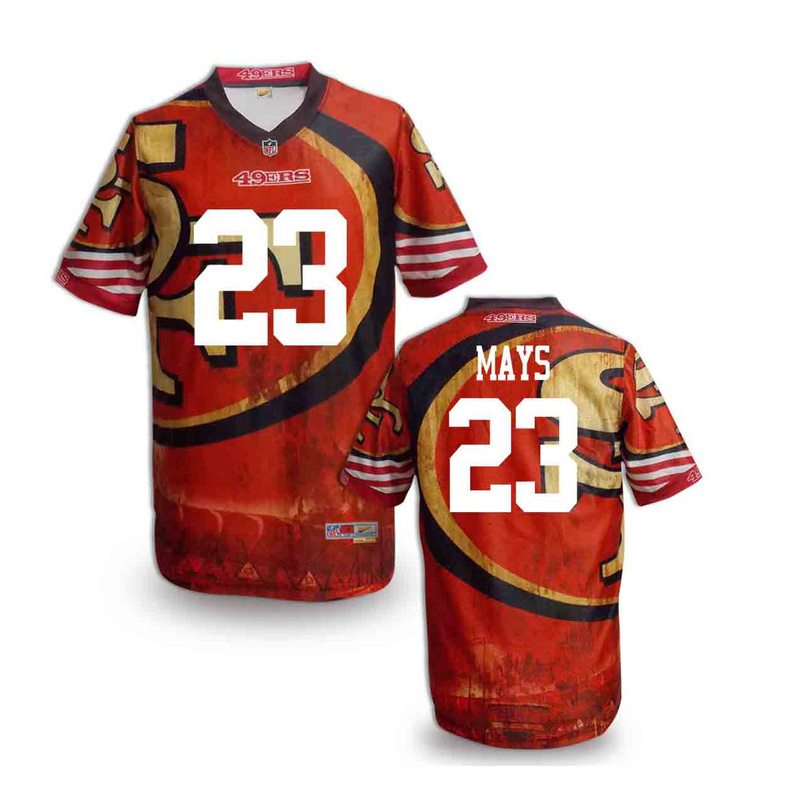 San Francisco 49ers 23 mays NFL fashion version Jersey 5