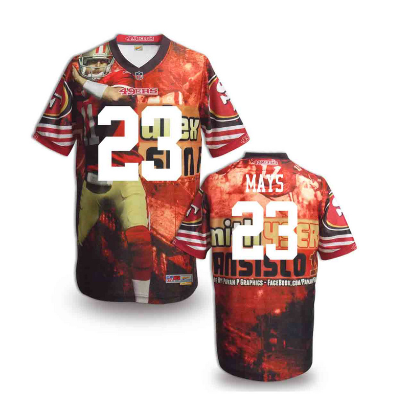 San Francisco 49ers 23 mays NFL fashion version Jersey 6