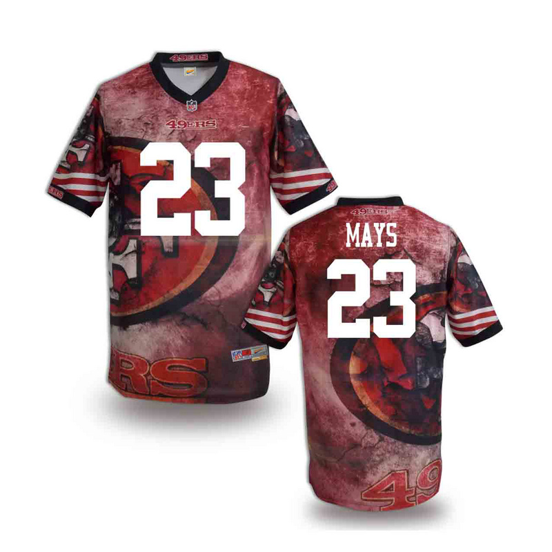 San Francisco 49ers 23 mays NFL fashion version Jersey 10