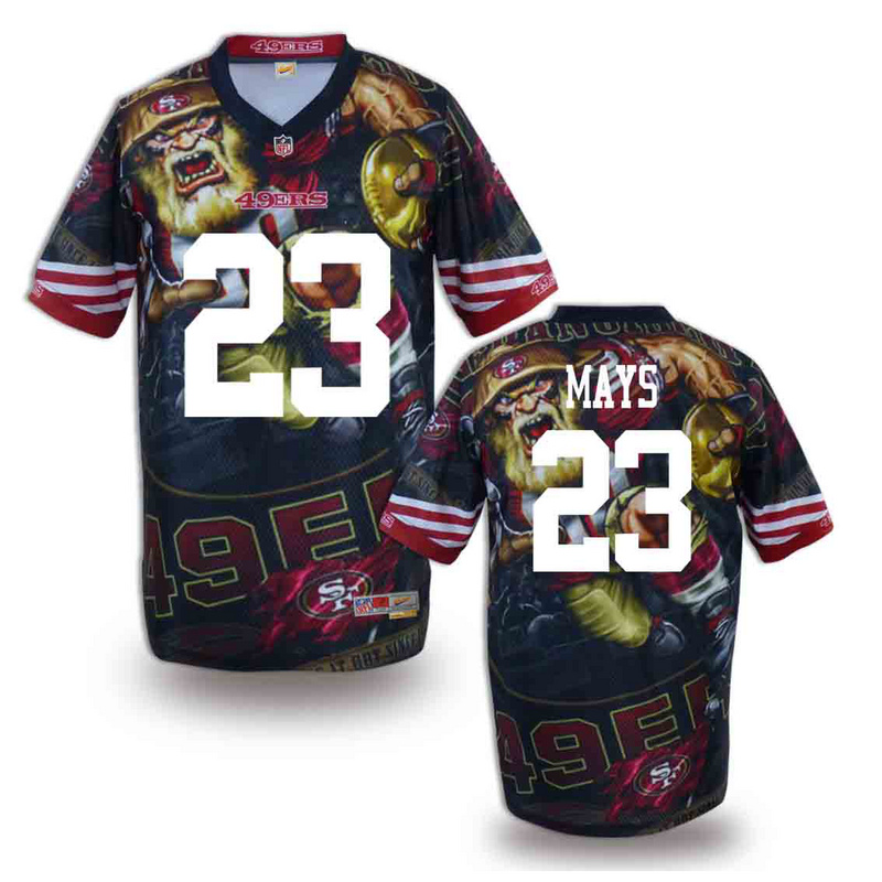 San Francisco 49ers 23 mays NFL fashion version Jersey 12