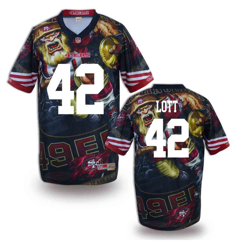 San Francisco 49ers 42 lott NFL fashion version Jersey 12