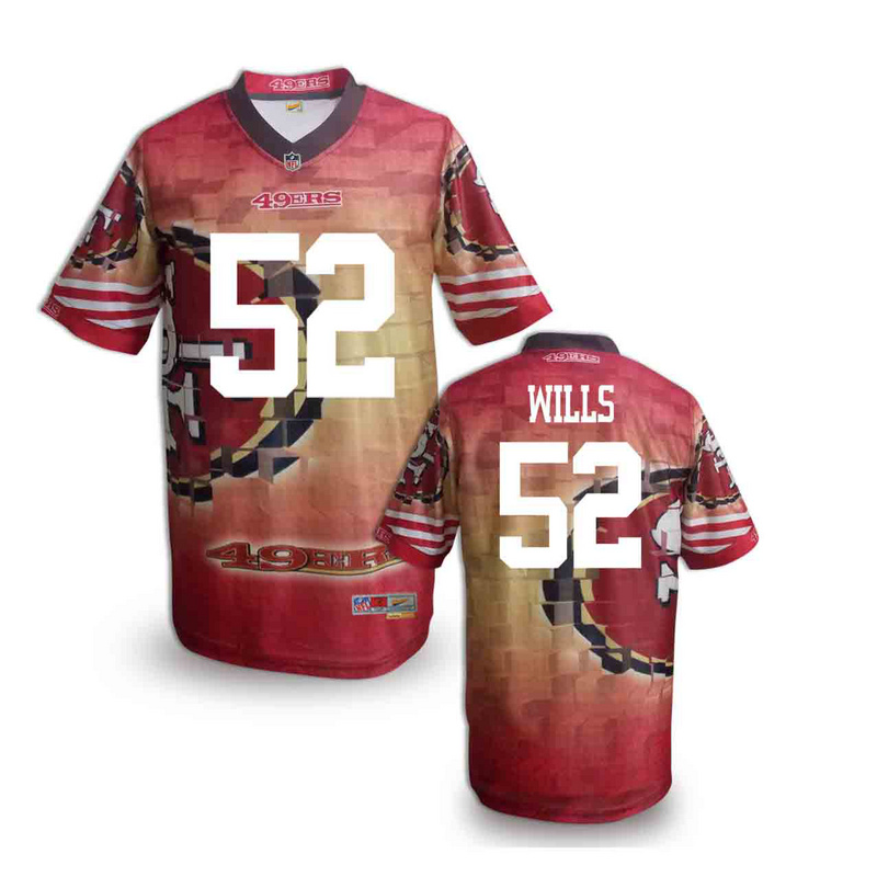 San Francisco 49ers 52 wills NFL fashion version Jersey