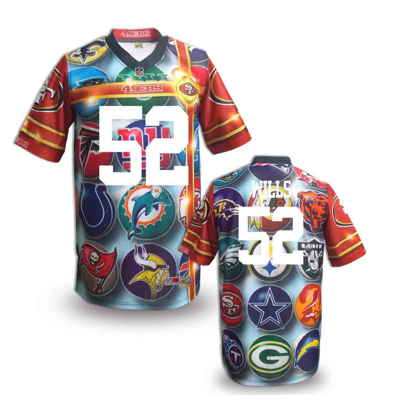 San Francisco 49ers 52 wills NFL fashion version Jersey 2