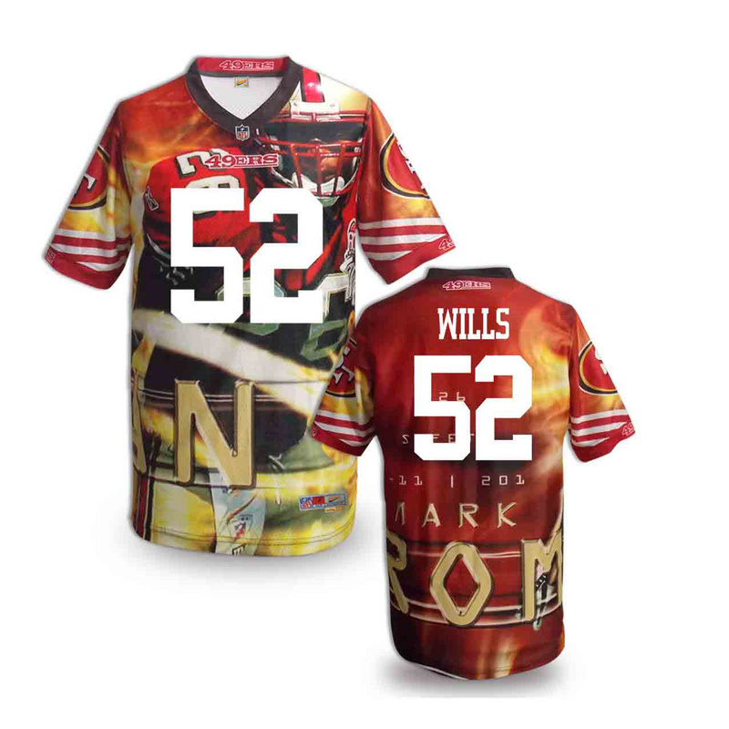 San Francisco 49ers 52 wills NFL fashion version Jersey 3