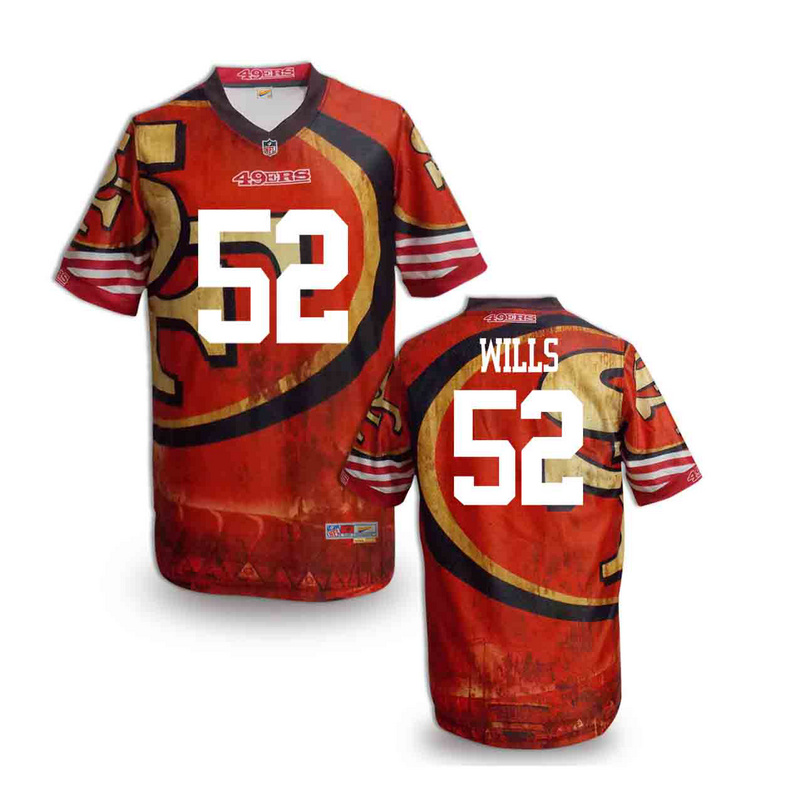 San Francisco 49ers 52 wills NFL fashion version Jersey 5