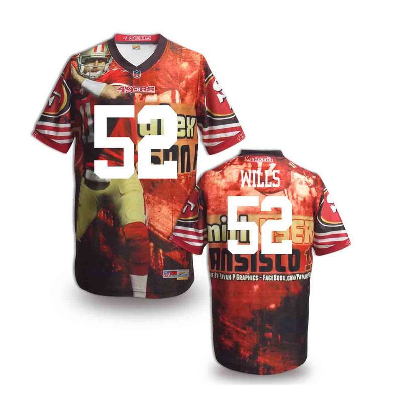 San Francisco 49ers 52 wills NFL fashion version Jersey 6