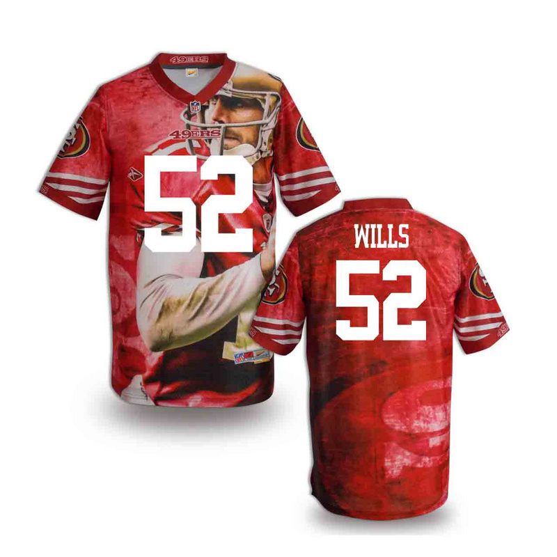 San Francisco 49ers 52 wills NFL fashion version Jersey 9