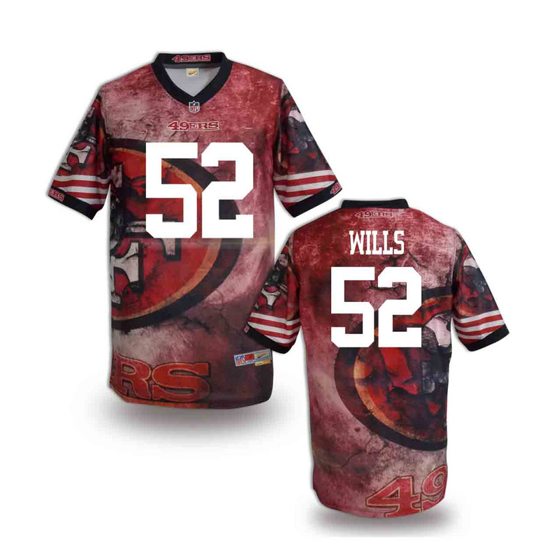 San Francisco 49ers 52 wills NFL fashion version Jersey 10