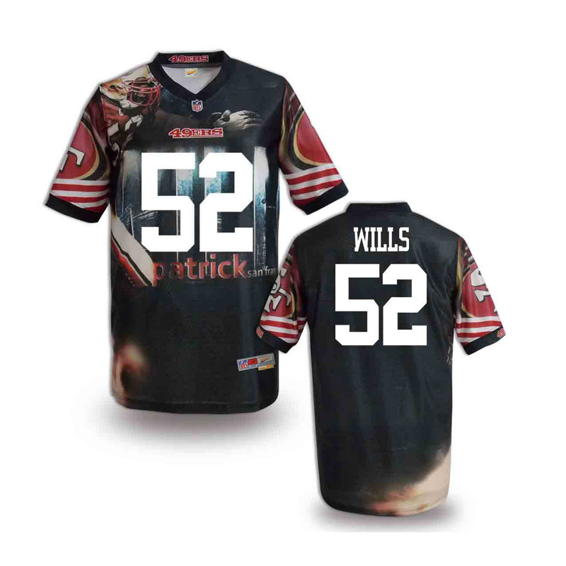 San Francisco 49ers 52 wills NFL fashion version Jersey 11