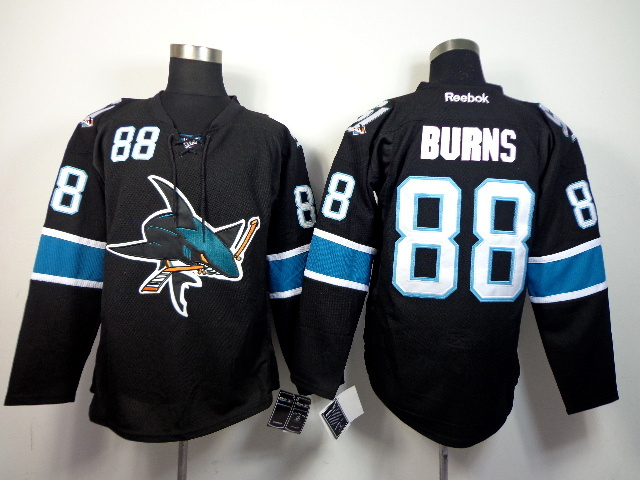 NHL San Jose Sharks 88 Brent Burns Black 2014 Jerseys