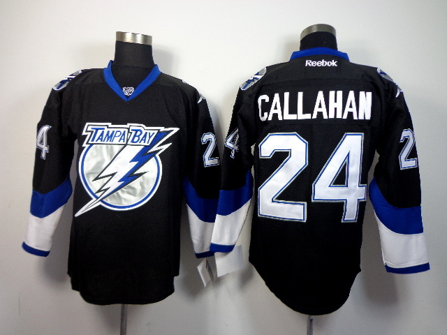 NHL Tampa Bay Lightning 24 Ryan CALLAHAN Black 2014 Jerseys