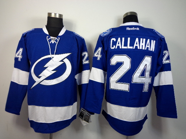 NHL Tampa Bay Lightning 24 Ryan CALLAHAN Blue 2014 Jerseys
