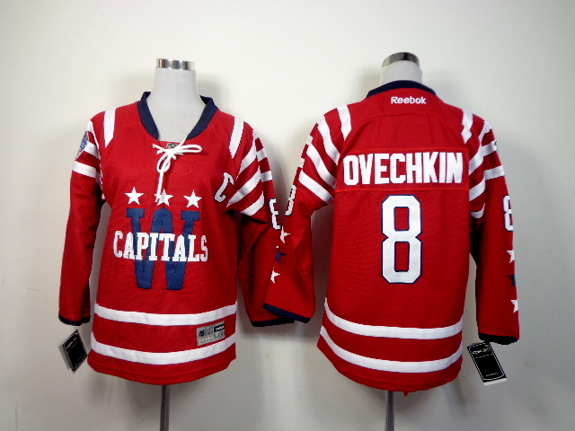 Youth NHL Washington Capitals 8 Alexander Ovechkin Red 2015 Winter Classic