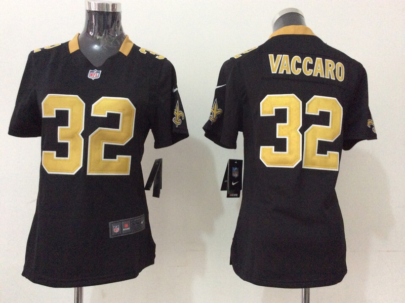 Womens New Orleans Saints 32 Kenny Vaccaro Black 2014 New Nike Jerseys