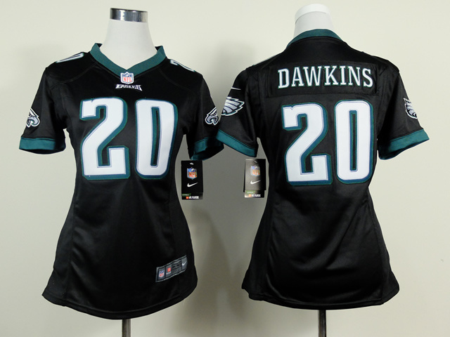 Womens Philadelphia Eagles 20 Brian Dawkins Black 2014 New Nike Jerseys