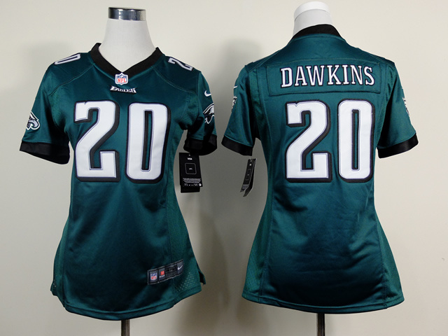 Womens Philadelphia Eagles 20 Brian Dawkins Green 2014 New Nike Jerseys