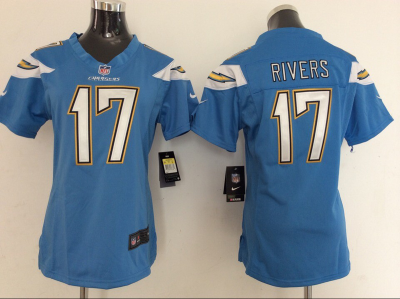 Womens Los Angeles Chargers 17 Philip Rivers Light Blue 2014 New Nike Jerseys