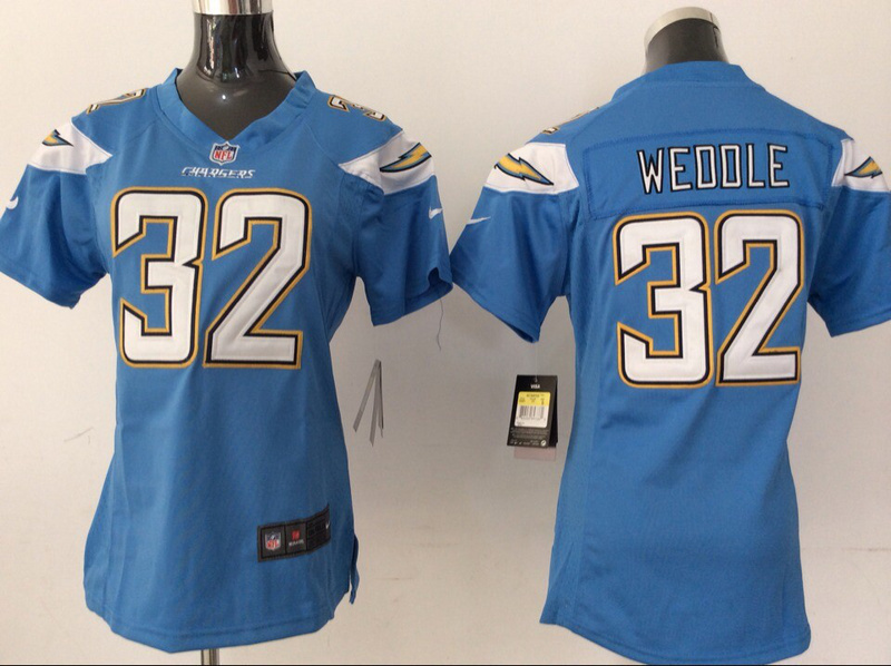 Womens San Diego Chargers 32 Eric Weddle Light Blue 2014 New Nike Jerseys