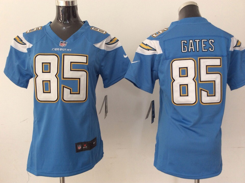 Womens Los Angeles Chargers 85 Antonio Gates Light Blue 2014 New Nike Jerseys