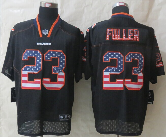 Chicago Bears 23 Fuller USA Flag Fashion Black 2014 New Nike Elite Jerseys