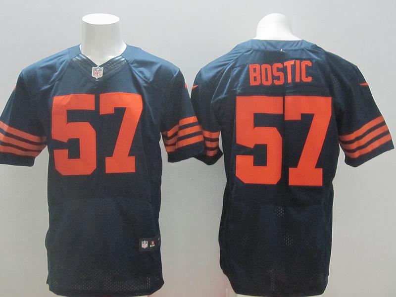 Chicago Bears 57 Jon Bostic Blue Orange 2014 New Nike Elite Jerseys