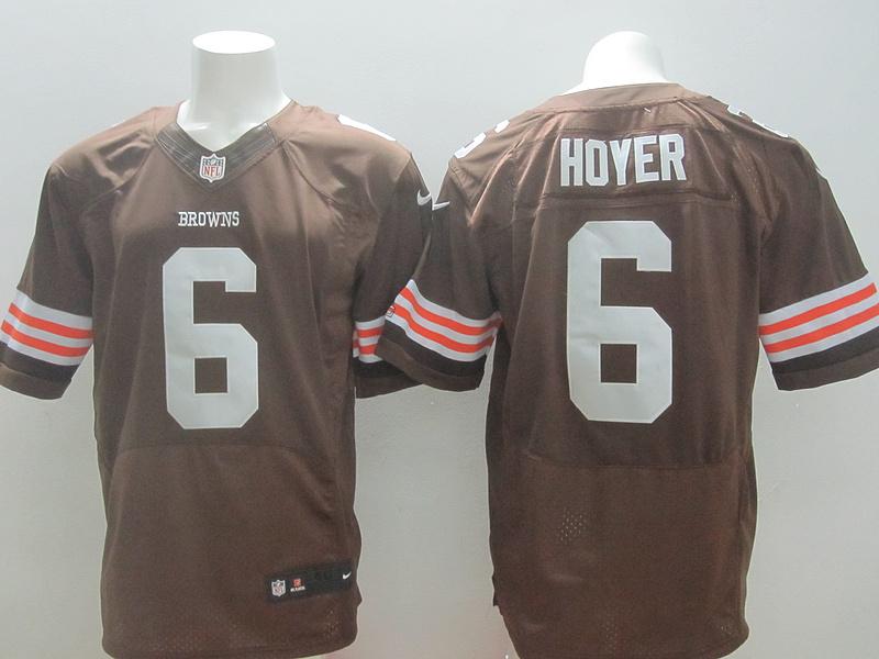 Cleveland Browns 6 Hoyer Brown 2014 New Nike Elite Jerseys