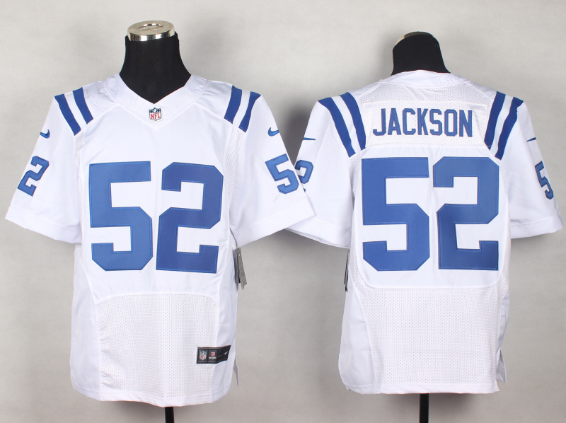 Indianapolis Colts 52 D'Qwell Jackson White 2014 New Nike Elite Jerseys