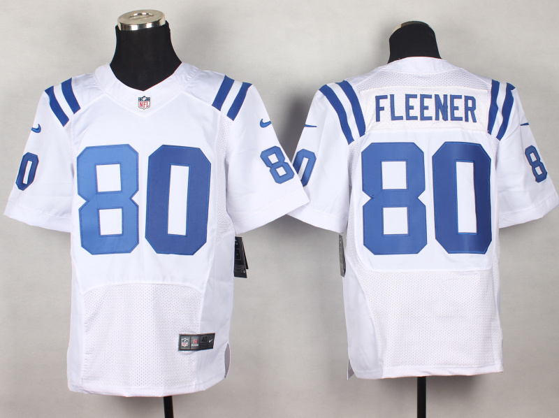 Indianapolis Colts 80 Coby Fleener White 2014 New Nike Elite Jerseys