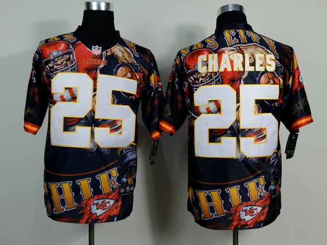 Kansas City Chiefs 25 Jamaal Charles NFL Nike fanatical version Jersey