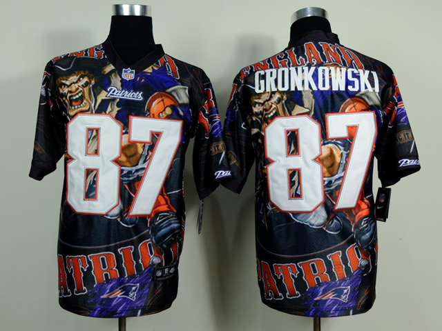 New England Patriots 87 Rob Gronkowski Black NFL Nike fanatical version Jersey