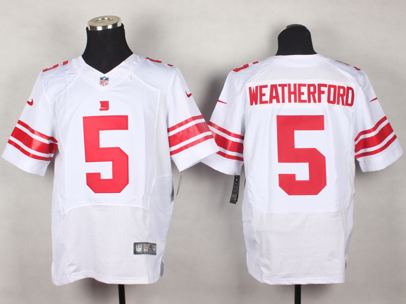 New York Giants 5 Steve Weatherford White 2014 New Nike Elite Jerseys