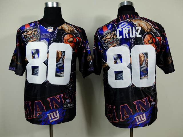 New York Giants 80 Victor Cruz NFL Nike fanatical version Jersey