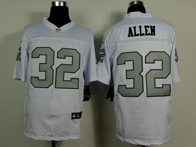 Oakland Raiders 32 Allen White Silver 2014 New Nike Elite Jerseys