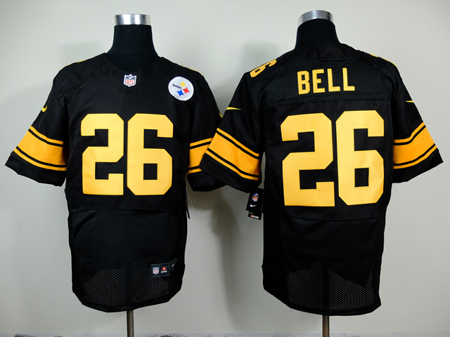 Pittsburgh Steelers 26 Le'Veon Bell Black Yellow 2014 New Nike Elite Jerseys