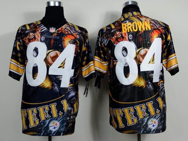 Pittsburgh Steelers 84 Antonio Brown NFL Nike fanatical version Jersey