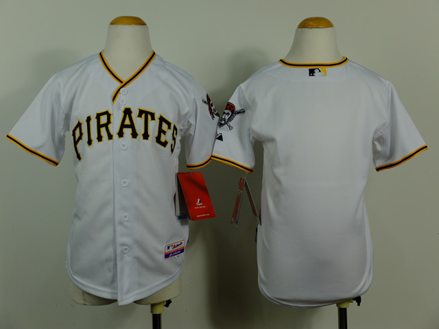 Youth MLB Pittsburgh Pirates Blank White 2014 jerseys