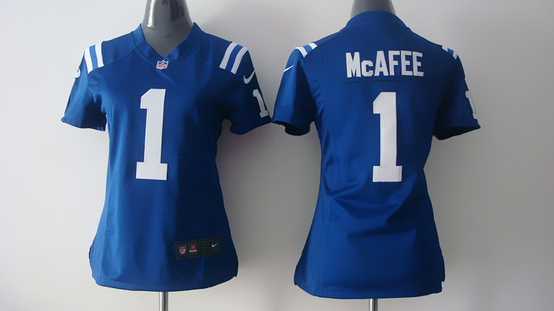 Womens Indianapolis Colts 1 Mcafee Blue 2014 Nike Jerseys