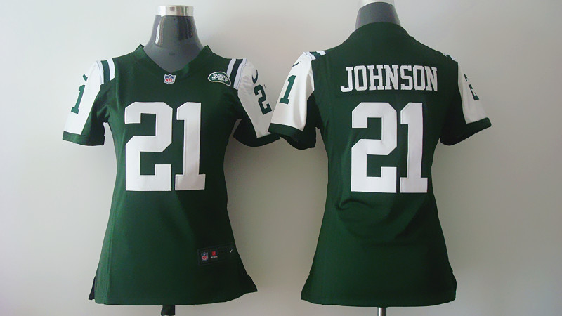 Womens New York Jets 21 Johnson Green 2014 Nike Jerseys