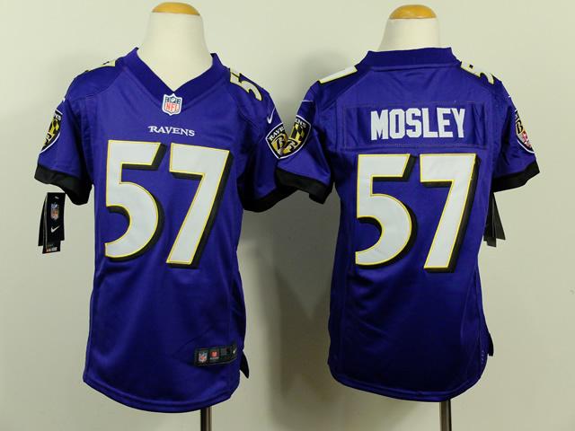 Youth Baltimore Ravens 57 CJ Mosley Purple 2014 Nike Jerseys