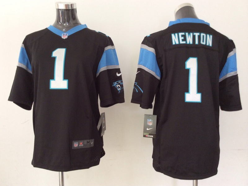 Youth Carolina Panthers 1 Cam Newton black 2014 Nike Jerseys