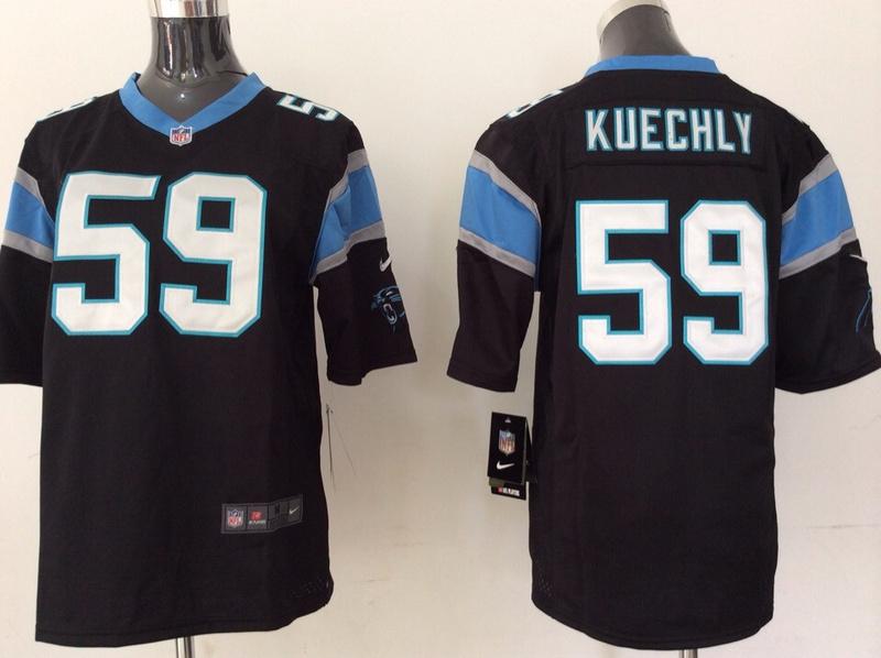 Youth Carolina Panthers 59 Kuechly black 2014 Nike Jerseys