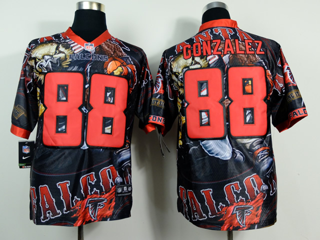 Atlanta Falcons 88 Tony Gonzalez NFL Nike fanatical version Jersey