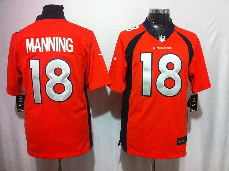 Denver Broncos 18 Peyton Manning Orange Game 2014 Nike Jerseys