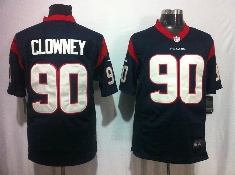 Houston Texans 90 Clowney Blue Game 2014 Nike Jerseys