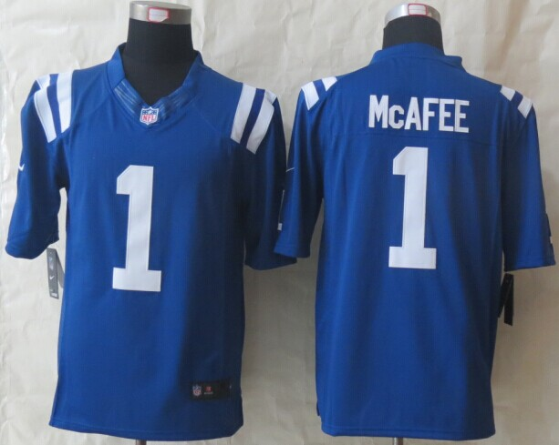 Indianapolis Colts 1 McAfee Blue New Nike Limited Jerseys